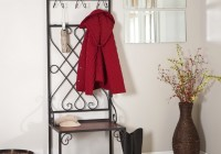 Foyer Bench With Coat Rack