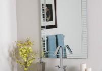 Frameless Beveled Mirrors For Bathroom