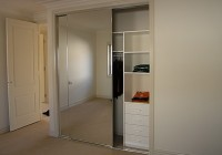 frameless mirrored bifold closet doors