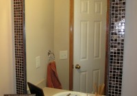 Framing A Bathroom Mirror With Tile