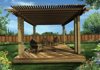 free standing covered deck plans