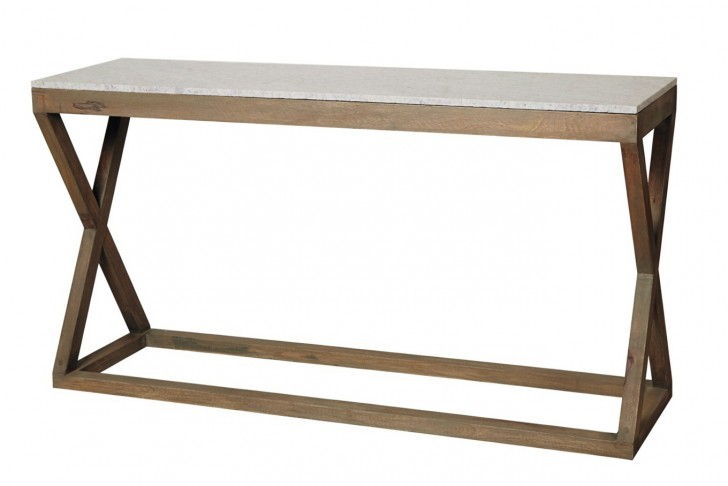Permalink to French Marble Top Console Table