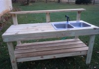 Garden Potting Bench With Sink