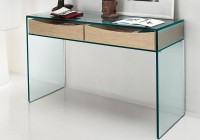 Glass Console Table With Drawers