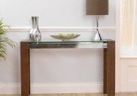 Glass Mirror Console Table