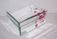 Glass Mirrored Jewelry Box