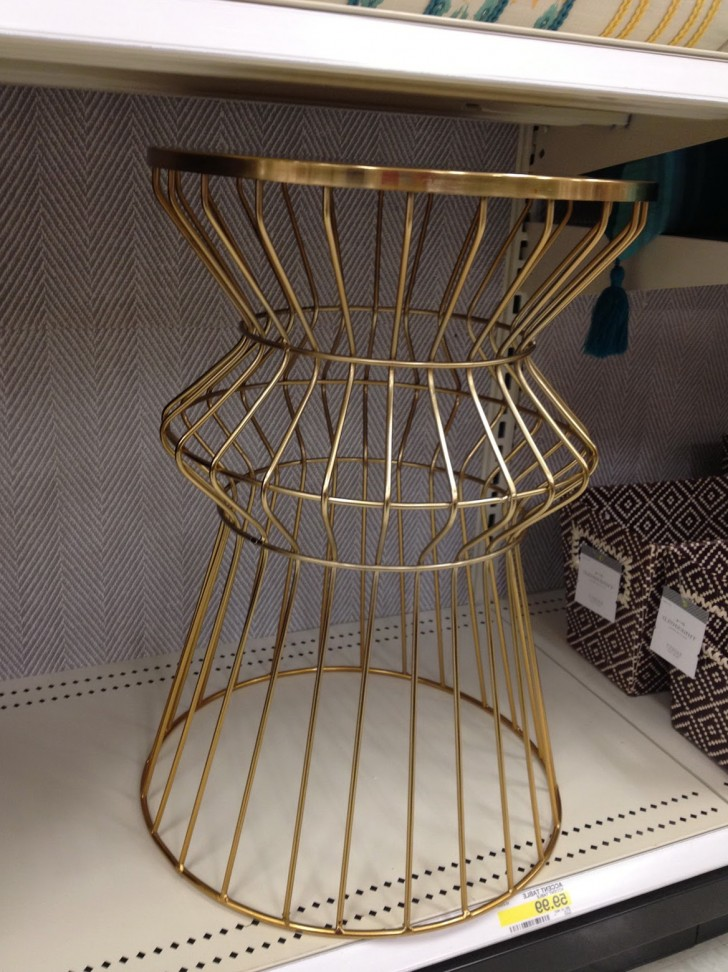 Permalink to Gold Accent Table Target