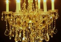 Gold Crystal Chandelier Lights