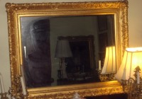 Gold Framed Mirror Large