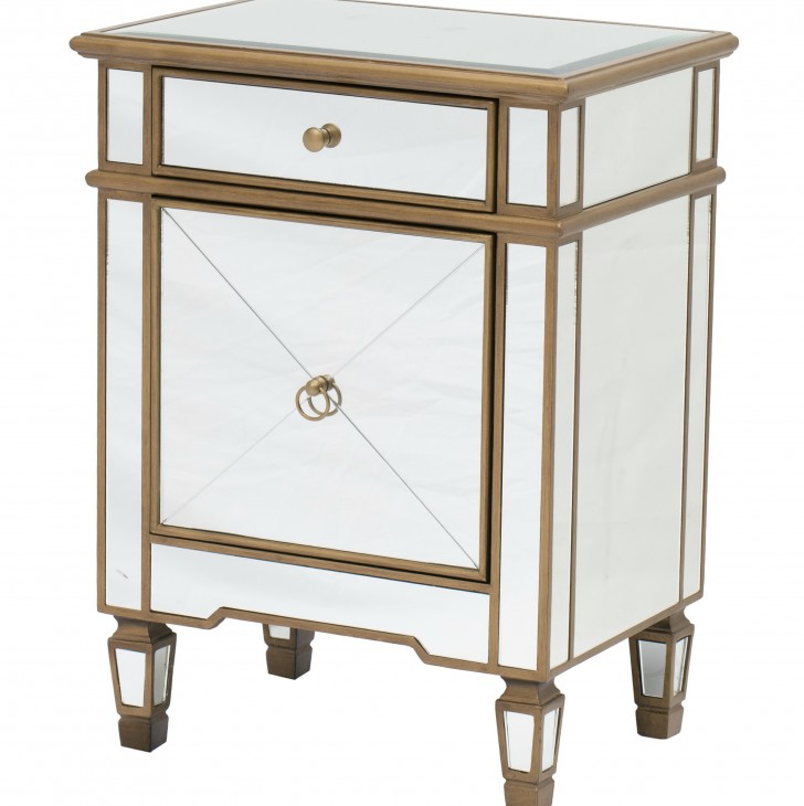 Permalink to Gold Mirrored Side Table