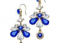 Gold Rhinestone Chandelier Earrings
