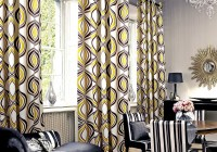 Gray Black And Yellow Curtains