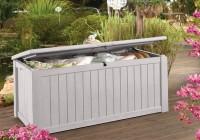 Gray Outdoor Storage Deck