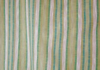 Green And Blue Striped Curtains