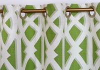 Green And White Window Curtains