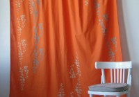 Grey And Orange Patterned Curtains