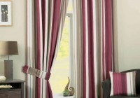 Grey And Pink Striped Curtains