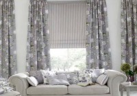 Grey Bay Window Curtains