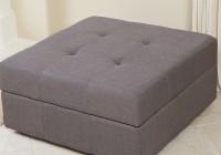 Grey Fabric Storage Ottoman