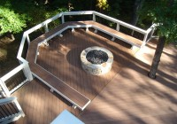 Ground Level Deck With Fire Pit
