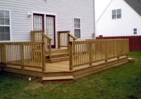 Ground Level Decks Wood Deck