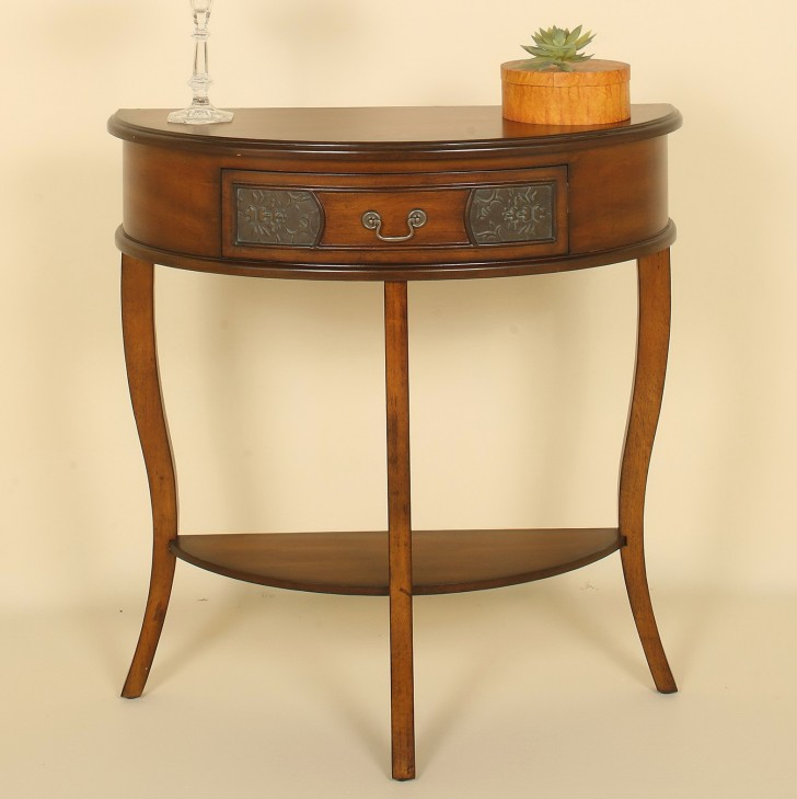 Permalink to Half Round Console Table With Drawers