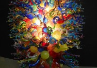 Hand Blown Glass Chandelier