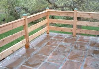 Horizontal Deck Railing Systems
