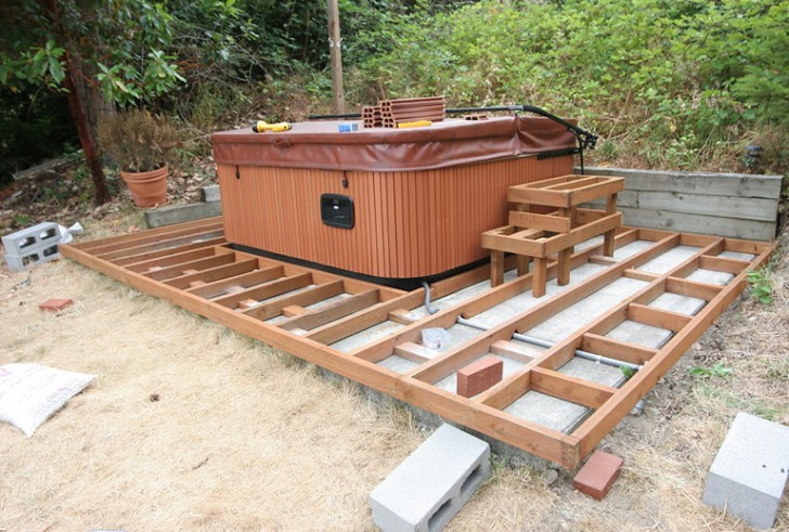 Permalink to Hot Tub On Raised Deck