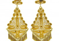 Indian Diamond Chandelier Earrings