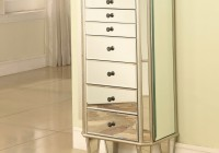 Jewelry Mirror Armoire White