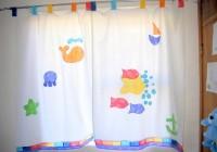 kids room window curtains