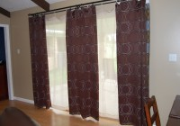 kitchen sliding glass door curtains