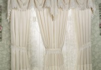 Lace Shower Curtain With Valance