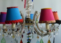 Lamp Shade Chandelier Pinterest
