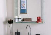Large Bathroom Mirror With Shelf