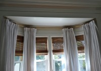 large bay window curtain rods