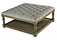 large round tufted ottoman coffee table