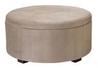 Large Storage Ottoman Fabric