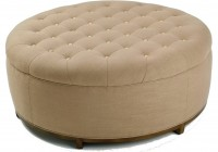 Large Tufted Ottoman Round