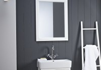 Large White Bathroom Mirror