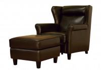 Leather Chair And Ottoman Sets