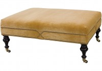 Leather Cocktail Ottoman Rectangle
