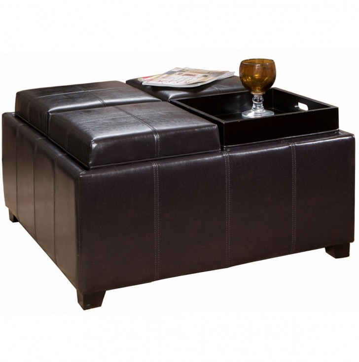 Permalink to Leather Ottoman Coffee Table With Tray