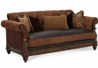 Leather Sofa With Fabric Cushions