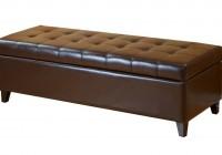 Leather Storage Ottoman Bench