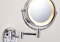 Lighted Makeup Mirror Wall Mount