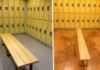 locker room benches canada