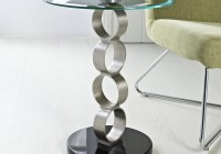 Metal Accent Table With Glass Top