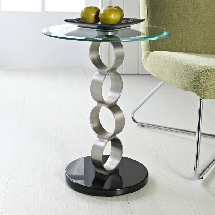 Permalink to Metal Accent Table With Glass Top